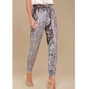 Jolt Crushed Velvet Jogger Pants